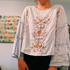 ADORABLE summer embroidered top ☀️